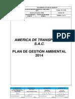 Pl-01-Ma - V 00 Plan de Gestión Ambiental 2014 America de Transportes