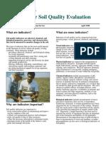 Indikator Evaluasi Kualitas Tanah