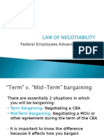 Law of Negotiability 2011