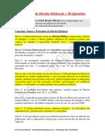 175 Dicas Direito Eleitoral e Questões - Prof Bruno Oliveira