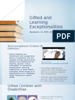 gifted and learning exceptionalities