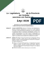 Ley Provincial Escuelas Hospitalarias