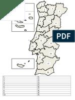 Portugal (Mapa Para Preencher Provincias Distritos)