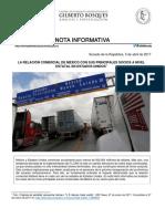 05-04-17 LA RELACIÓN COMERCIAL DE MÉXICO CON SUS PRINCIPALES SOCIOS A NIVEL ESTATAL EN ESTADOS UNIDOS.