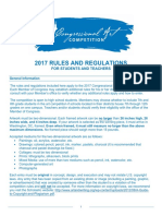2017 Rules for Students and Teachers