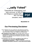 Equally Yoked - Doctrinal - Religous - Moral - Liberal Arts and Humanities