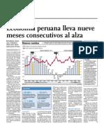 Economía peruana lleva nueve meses consecutivos al alza