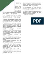 Lista Exercícios Molar. Título Fração, Concentração..2010