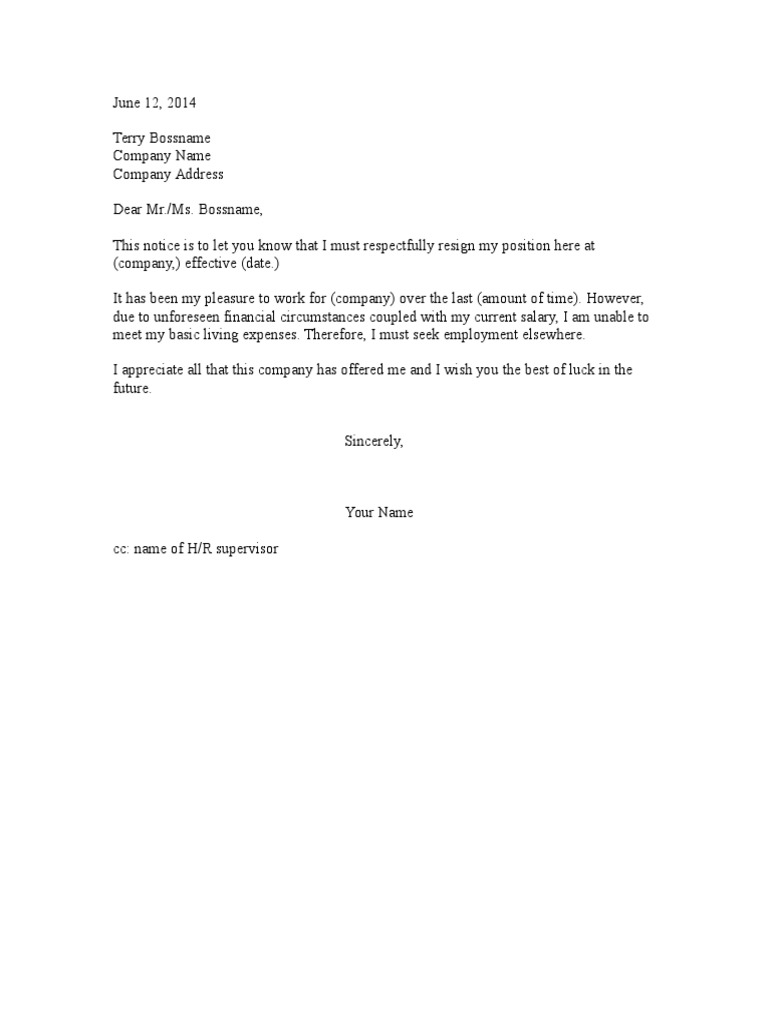 Resignation letter low salary spiritdancerdesigns Images