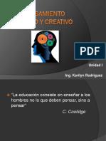 2-Pensamiento Critico y Creativo Unidad I