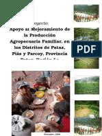 Proyecto de Apoyo a La Producción Agropecuaria Familiar