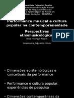 Performance e Cultura Popular Na Contemporaneidade