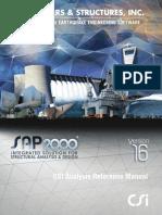 SAP2000v16 Analysis Reference Manual