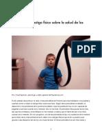 El Efecto Del Castigo Físico Sobre La Salud de Los Ninos