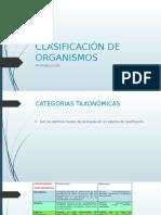 Clasificación de Organismos