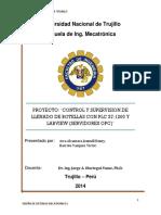 'CONTROL Y SUPERVISION DE LLENADO DE BOTELLAS CON PLC S7-1200 Y LABVIEW (SERVIDORES OPC)'