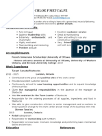 chloe resume 2015