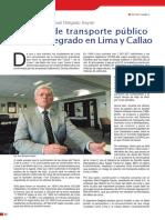 Sistema de Transporte Publico Masivo Integrado en Lima y Callao