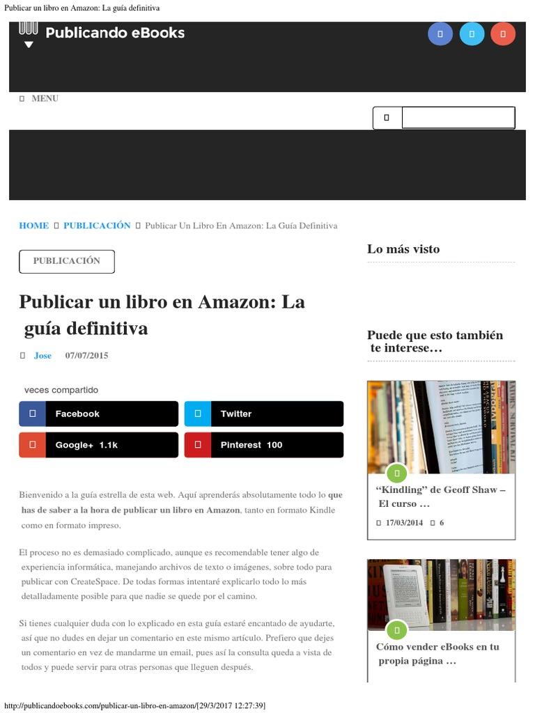 51d4aff37 Publicar Un Libro en Amazon La Guía Definitiva