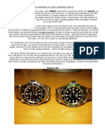 Rolex Submariner vs VL