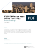 The Formation of Urban Spatial Structures