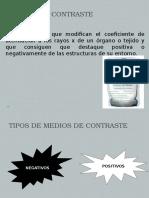 contraste radiografia