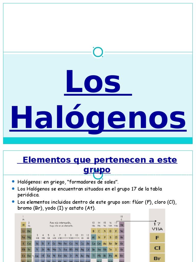 grupo 17 - Tabla Periodica Halogenos