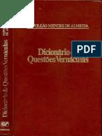 Dicionário de Questões Vernáculas - Napoleão Mendes de Almeida