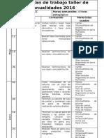 planificacion manualidades 2017