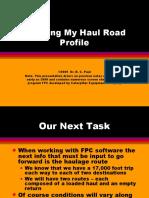 7 Entering Haulage Profiles With Caterpillar Trucks