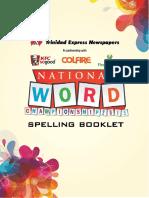 Spelling Bee Booklet