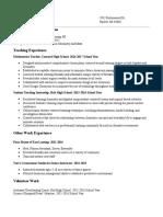 final resume 2017
