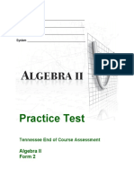 EOC Algebra II Revised Practice Test