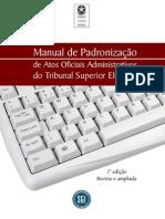 TSE-Manual de Padronização