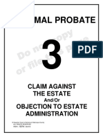 Claim Against the Estate