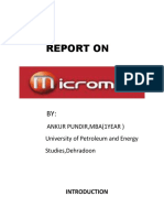 REPORT ON MICROMAX