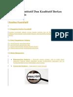 Analisa Kuantitatif Dan Kualitatif Berkas Rekam Medis