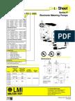 Dosing Pump LMI Milton Roy P Series