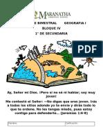 Examen Geografia Bloque 4