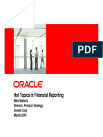 Hot Topics in Financial Reporting