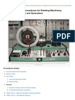 Inspection and Test Procedures for Rotating Machinery Synchronous Motors and Generators