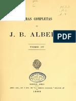 Alberdi Juan Bautista Obras Completas Vol IV