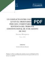 Conflicto Entre Conciencia y Ley en Ordenamiento Peruano