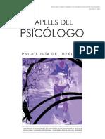 Psicologia Del Deporte. Número Especial Papeles El Psicologo