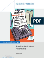 American Health Care Policy Issues