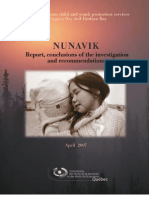 Investigation report on Nunavik child and youth protection services