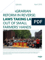Grain 5195 Asia s Agrarian Reform in Reverse Laws Taking Land Out of Small Farmers Hands