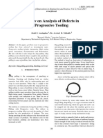 Review on Analysis of Defects In Progressive Tooling