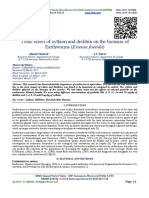 Toxic effect of cythion and dieldrin on the biomass of Earthworms (Eisenia foetida)