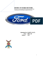 40175017 a Project Report on Ford Motors